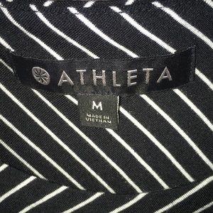 Athleta Dresses - LN ATHLETA Black & White Striped Dress Size M